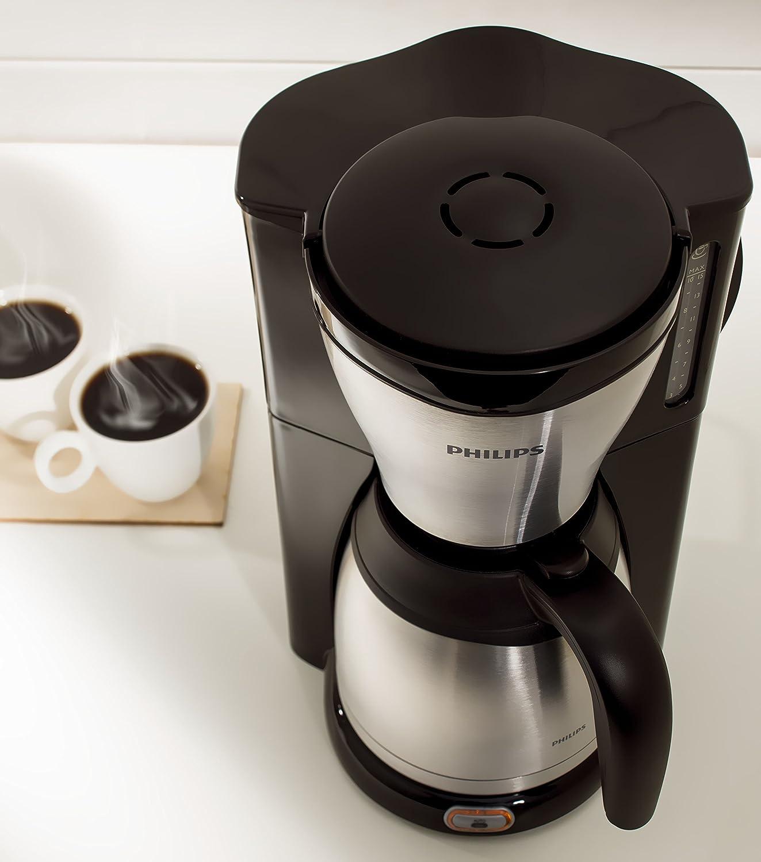 Amazon.de: Philips HD7546/20 Gaia Filter Kaffeemaschine Mit Thermo Kanne,  Schwarz/metall