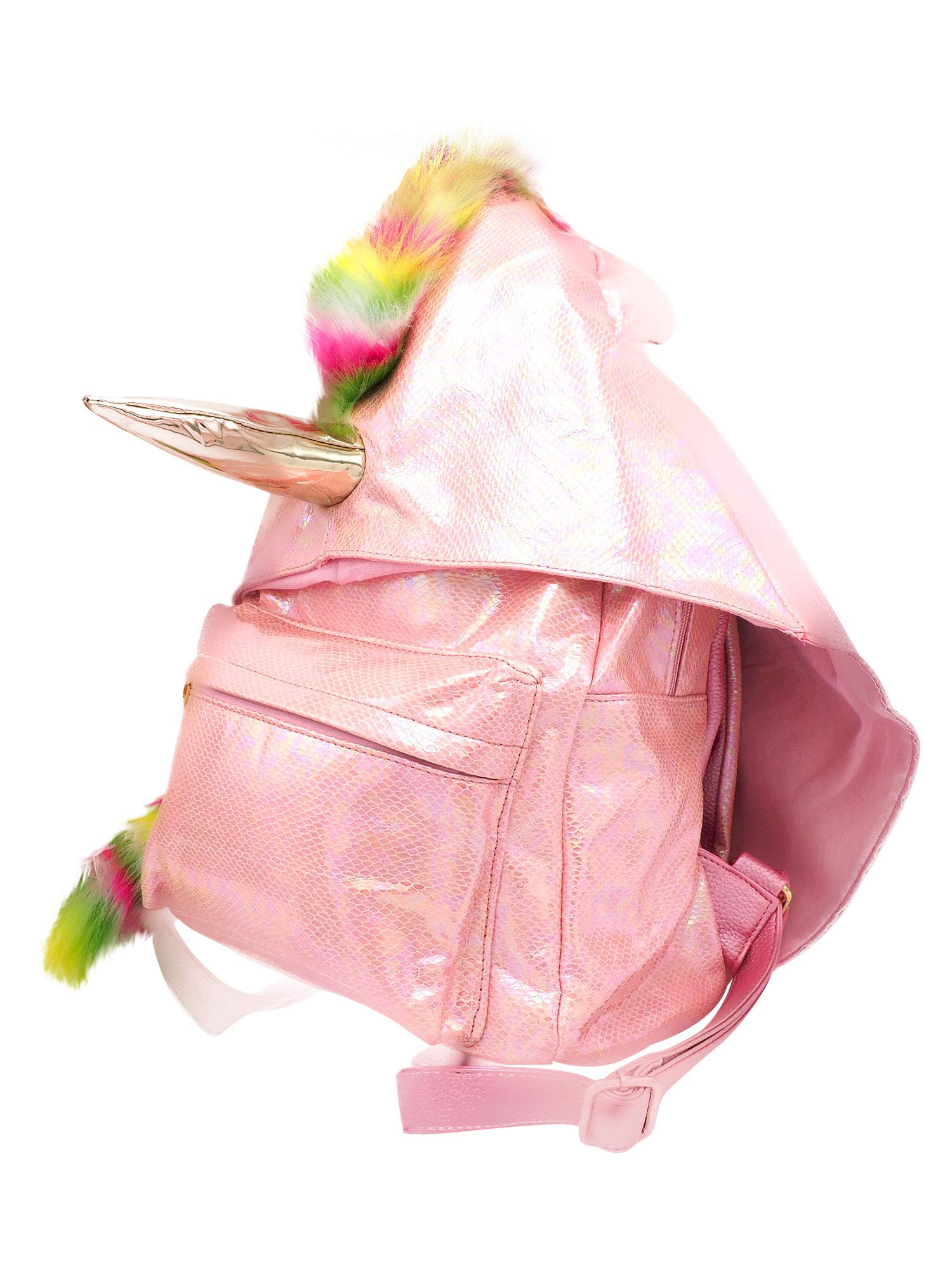 Sleekly Pink Unicorn Backpack, Back-to-School Bags for Her, Bag with Cute Unicorn Hood by Sleekly