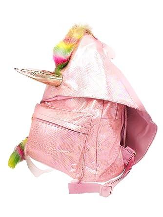Amazon.com: Elegante mochila de unicornio rosa, bolso de ...
