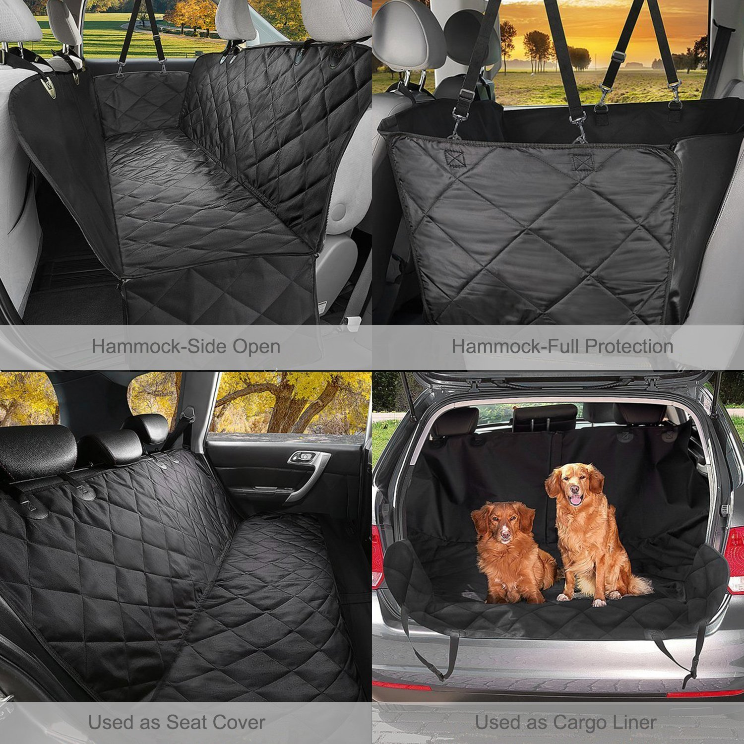 GELOO Bench Car Seat Cover Protector Waterproof, Heavy-Duty and Nonslip Pet Car Seat Cover for Dogs with Universal Size Fits for Cars, Trucks & SUVs by GELOO (Image #7)