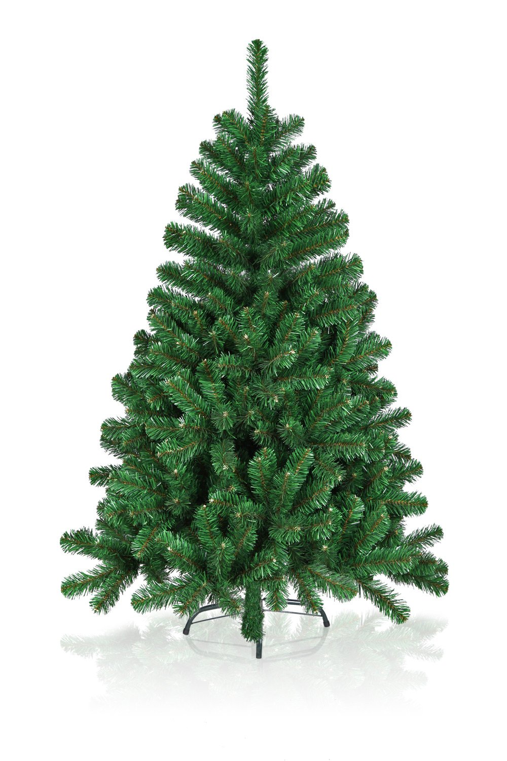 Hiskøl 240 cm ca. 2096 Astspitzen Künstlicher Weihnachtsbaum Tannenbaum Christbaum inklusive Christbaumständer, grün
