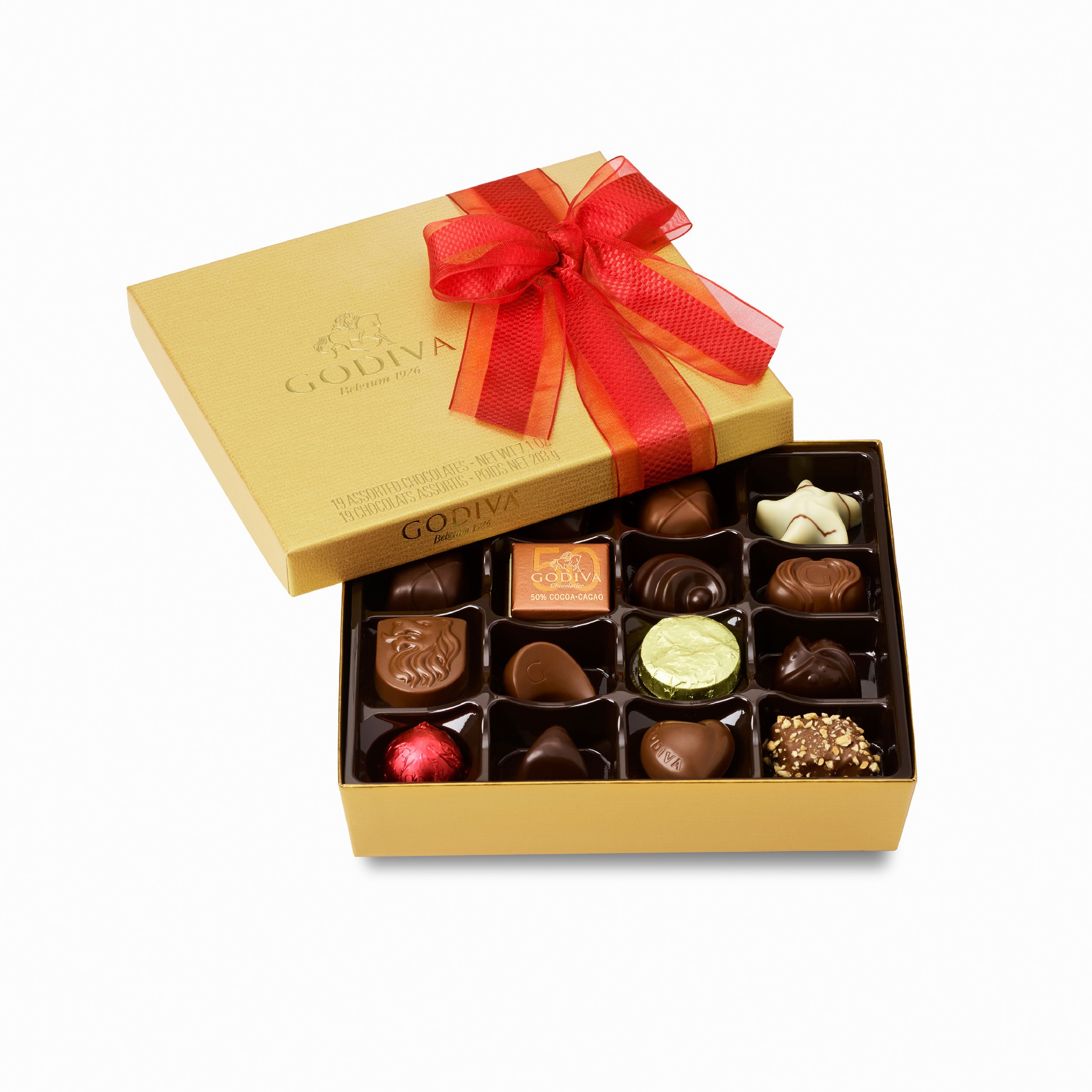Godiva Chocolatier Gold Ballotin Assorted Gourmet Chocolates 19 Piece Gift Box, Easter Basket Stuffers