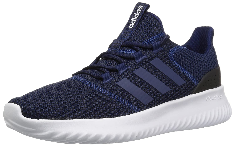 adidas Men's Cloudfoam Ultimate Running Shoe 7 M US|Dark Blue/Dark Blue/Black