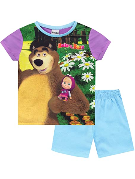 Girls Masha and The Bear Pyjamas Sizes from 18 months to 5 years