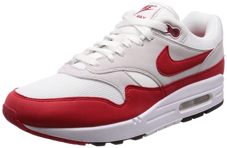 NIKE AIR MAX 1 ANNIVERSARY Mens sneakers 908375-103 B006WG3T7W 11 M US|White/University Red