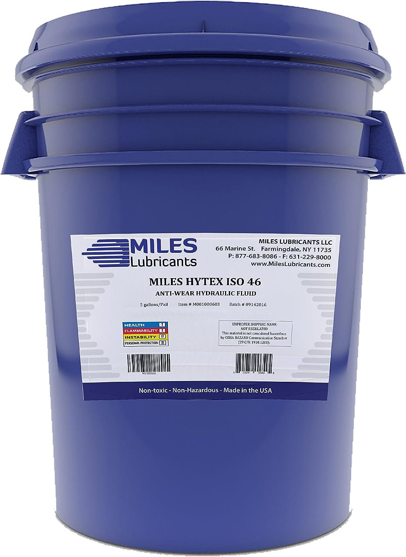 MILES LUBRICANTS Hytex ISO 46 Anti Wear Hydraulic Fluid 5 Gallon Pail (M001000603)