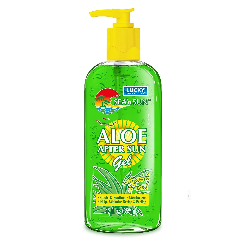 Lucky Super Soft Aloe Vera After Sun Gel, 12 Ounce