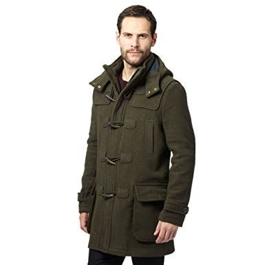Mantaray Mens Big And Tall Dark Green Duffle Coat With Wool Xxl ...