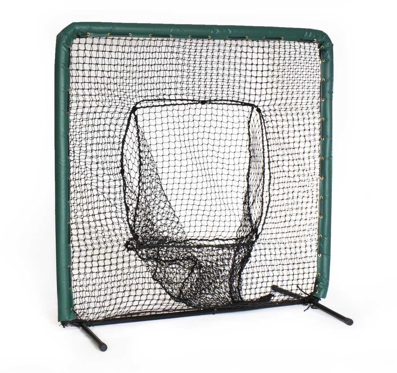 Armor 7X7 Sock Net Baseball//Softball Catch Net Practice//Training Screen with Yellow Padding