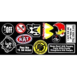 Decals & Stickers Vintage Motor Bike Vinyl Sticker Pack Adhesives & Tape