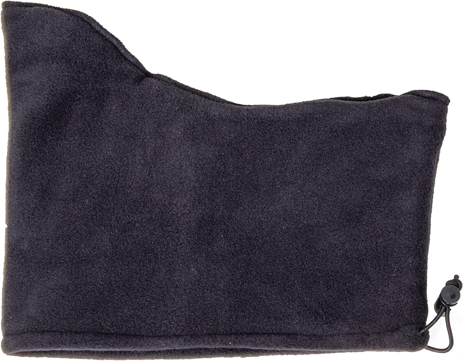 Black, One Size Fits All RefrigiWear Double Layer Thick Fleece Neck Gaiter with Adjustable Drawcord