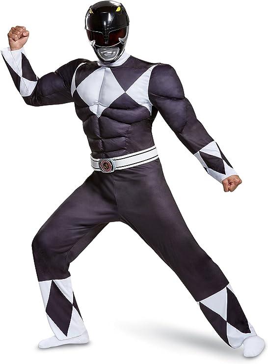 Disfraz de Power Ranger Negro para Adulto - Power Rangers Mighty ...