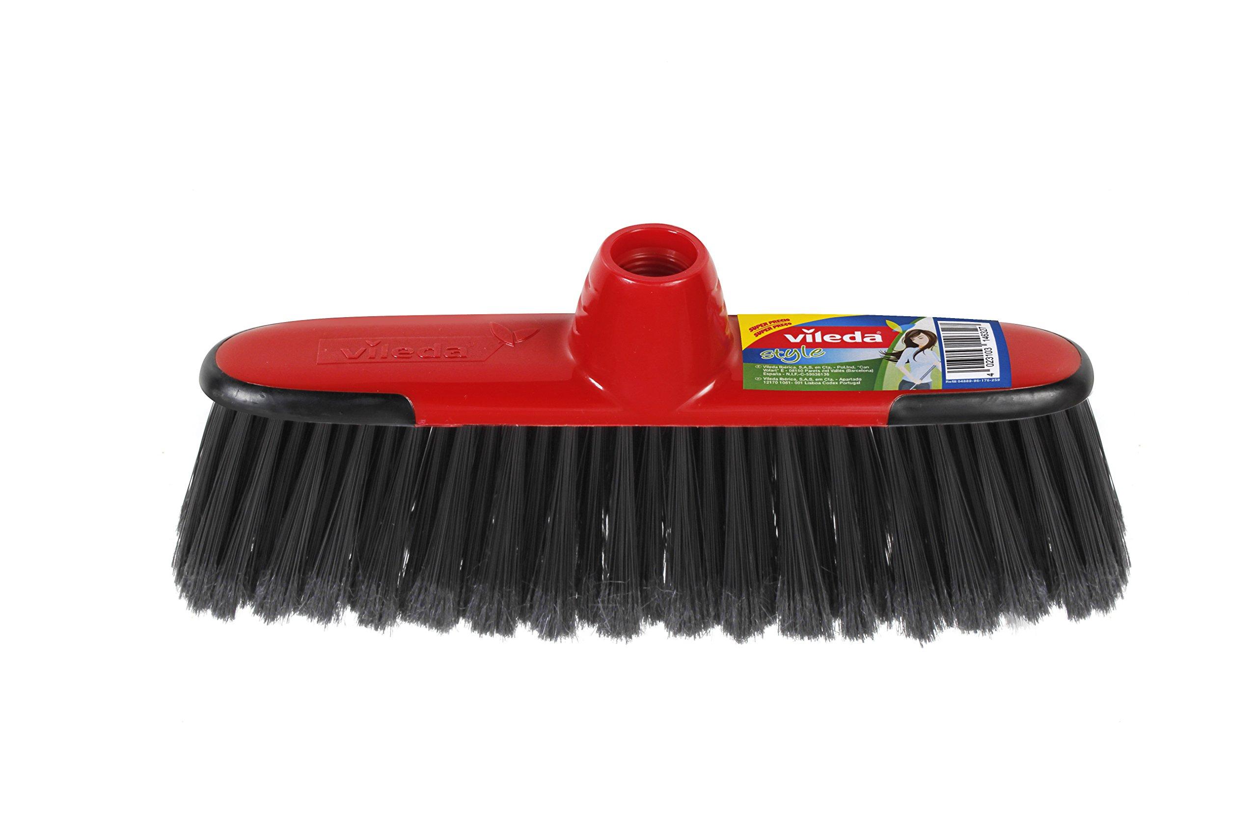 Vileda - Recambio cepillo Style, multiusos, apto para todas las superficies, color rojo