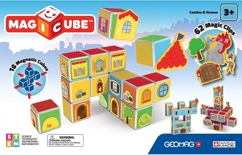 Geomag- Magicube Free Building Cubos magneticos Multicolor 8 Piezas 127