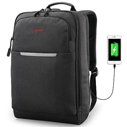 ebe74395653b TIGERNU Business Backpack Reflective Professional Laptop Backpack fits 14.1  Inch Computer Travel Bag USB Charger