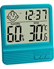 GuDoQi Electronic Digital Wet Thermometer Indoor Home Desktop Thermometer Baby Room Electronic Hygrometer With Alarm Clock Function