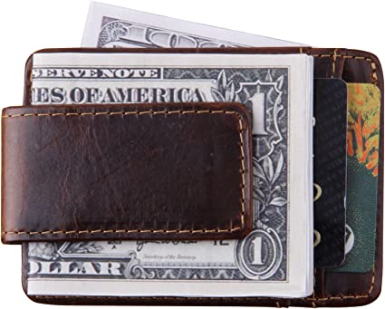 Front Pocket Wallet Leather Coin Pouch Gift Idea Change Purse For Him /& Her Gray Leather Men Wallet