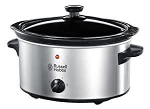 Russel Hobbs 23200 3.5L Stainless Steel Slow Cooker 220-240 Volts 50/60Hz Export Only