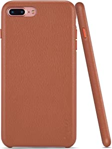 rejazz iPhone 7 Plus Case iPhone 8 Plus Case Anti-Scratch iPhone 7 Plus Cover iPhone 8 Plus Cover Genuine Leather Apple iPhone Cases for iPhone 7/8 Plus (5.5 Inch) (Brown)