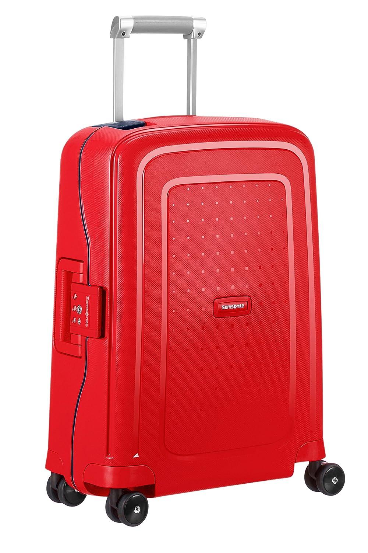 SAMSONITE S'Cure Spinner 55/20 Koffer, 55 cm, 34 L, Capri Red/Navy Blue