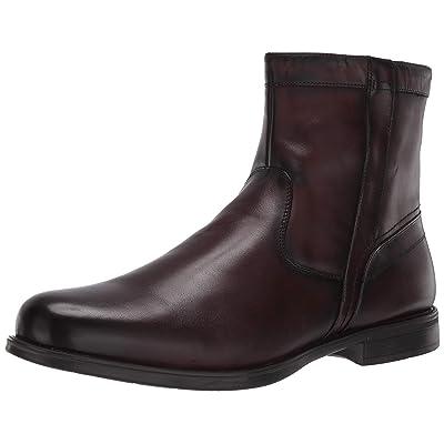 Florsheim Men's Medfield Plain Toe Zip Boot Fashion, Brown, 10.5 Medium | Chelsea