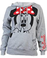 Disney Junior Minnie Mouse Silent Hoodie Fleece Pullover