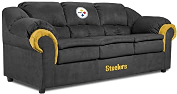 Imperial Officially Licensed NFL Furniture: Pittsburgh Steelers Pub  Microfiber Sofa/Couch