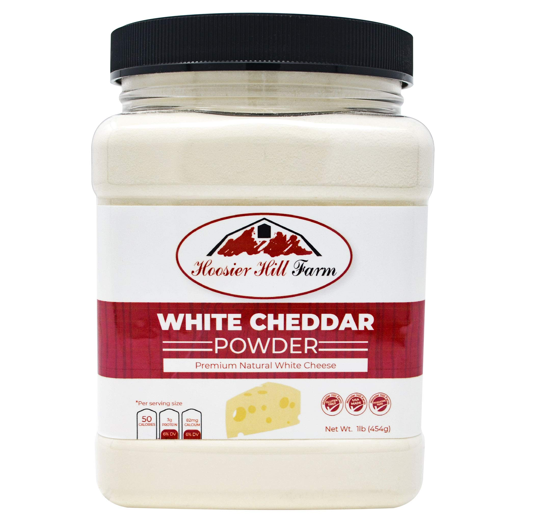 Hoosier Hill Farm Premium White Cheddar Cheese Powder, Natural (1 lb) rBGH and rBST.free.