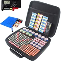 Battery tester, Battery organizer case (Large fit for 240 pcs batteries)