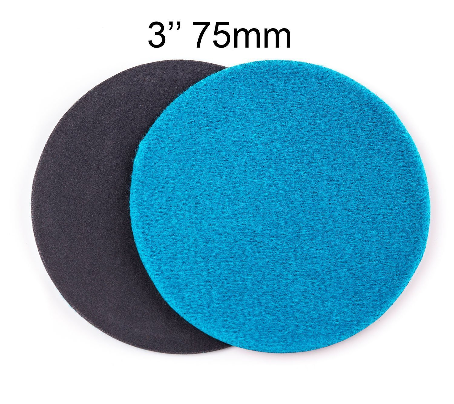Glass Polish Pack of 50 Silicon Carbide Abrasive Disc // 3-Inch GP13302 GP-PRO50 FINE Grade Sanding Disc for Glass