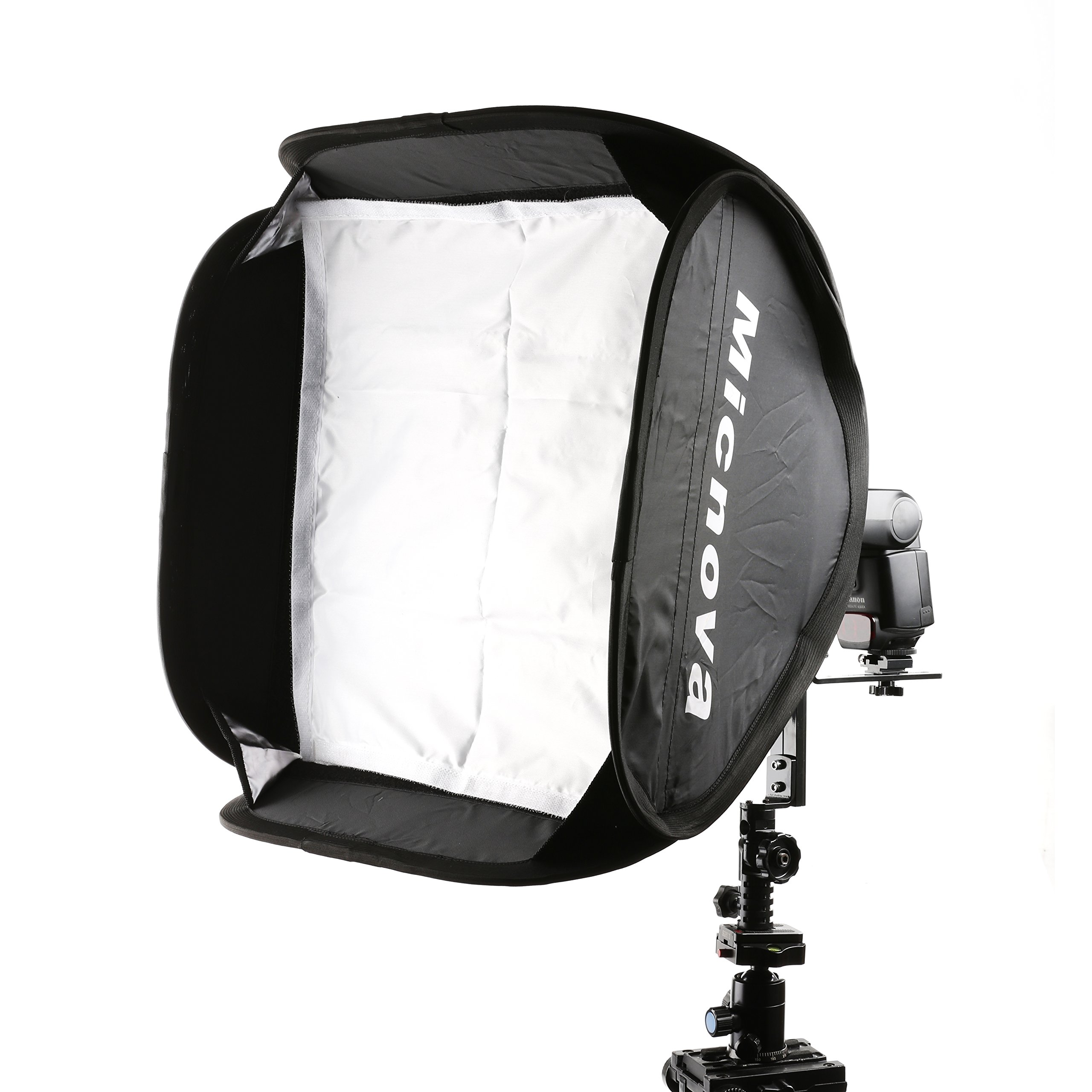 Micnova SB40 16x16'' Softbox Kit with Speedlight L-Type Bracket for all Camera Flashes