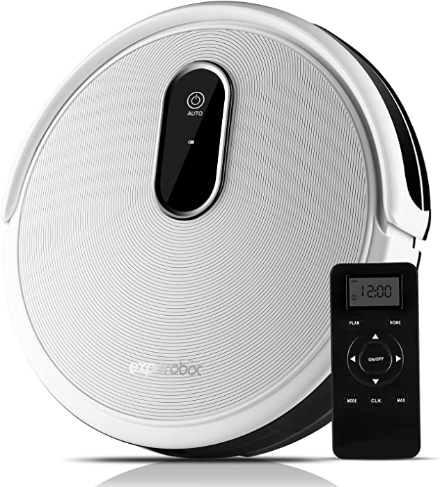 Robotic Vacuum Cleaner Higher Suction for Carpets and Hard Floor, Smart Anti Drop/Infrared Sensors, Magnetic Boundary Marker Strip, Electronic Water Tank for Wet Mopping, Self Charging and Daily Sched