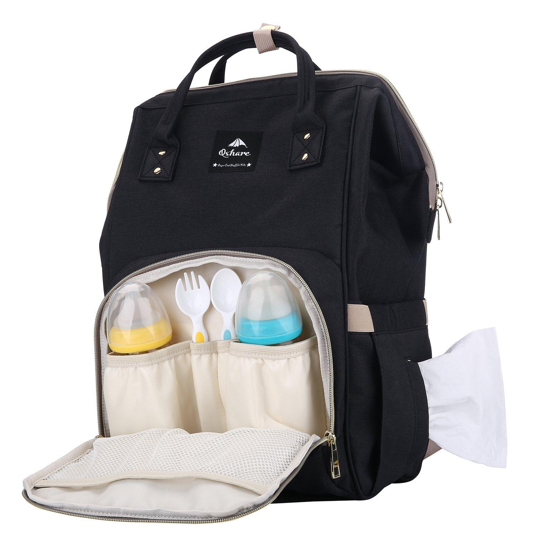 con gran estilo y duradera Mochilas para Pa/ñales Mochila maternal pa/ñalera para el cuidado del beb/é mochila grande multifuncional y a prueba de agua gris