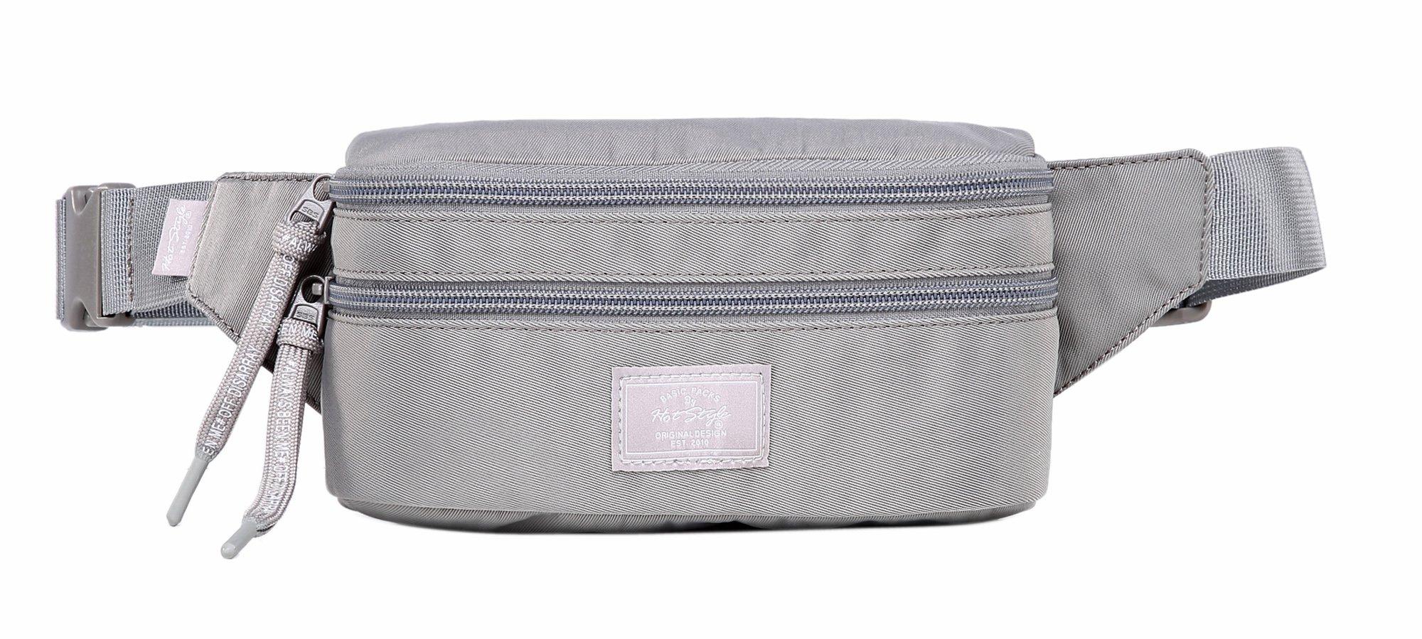 521s Fashion Waist Bag Cute Fanny Pack | 8.0''x2.5''x4.3'' | Silver