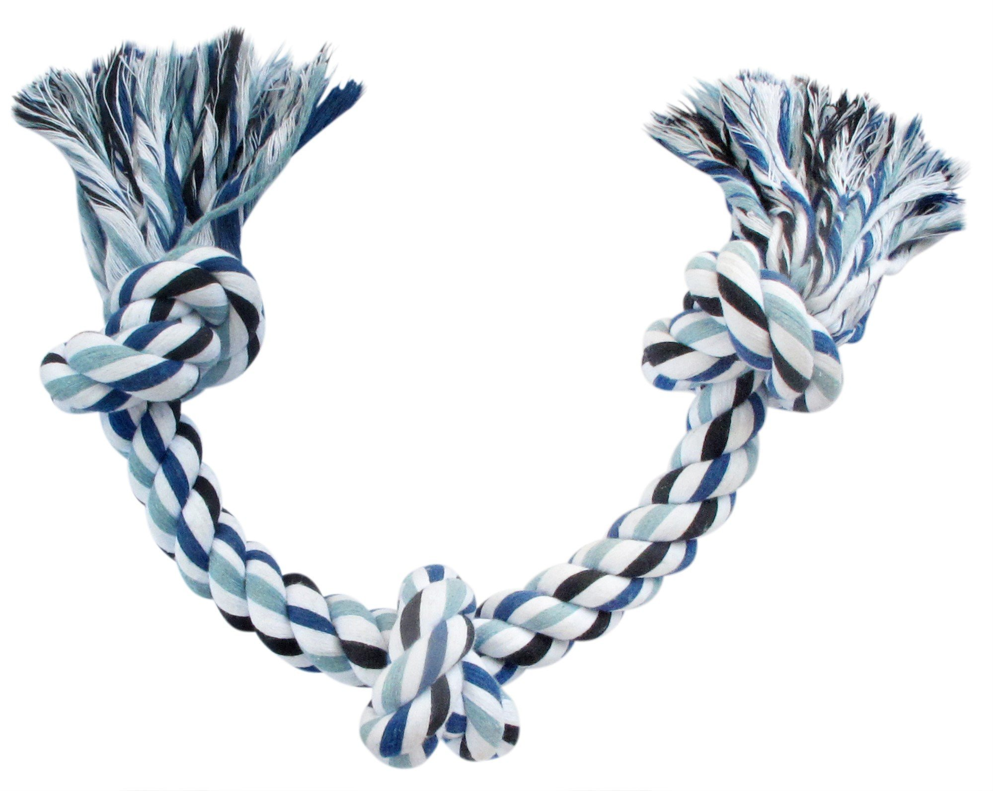 Blue's Choice Rope Toy for Dogs, Durable Chew Toy for Dogs, Good as a Puppy Toy for Puppy Teething for Aggressive Chewers, Indestructible Toy for Large and Medium Dog Breeds, Blue, Large