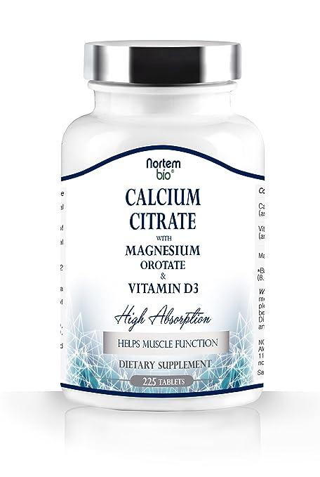 Citrato de Calcio, L orotate de magnesio y de la vitamina D3. 100