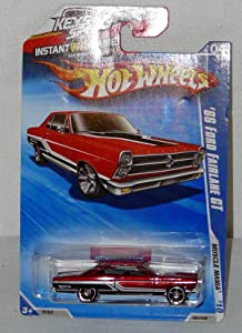 Mattel Hot Wheels 2010 Models 1966 Ford fairlane GT Candy Apple Red Color Die Cast Car Toy