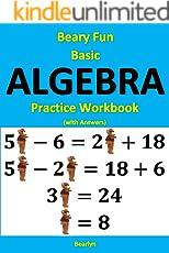 Amazon algebra math books beary fun basic algebra practice workbook with answers fandeluxe Gallery