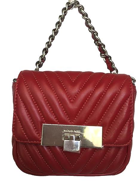 9ec51ca46f96 Michael Kors Susannah Lock Small Messenger - Cherry  Amazon.ca  Shoes    Handbags