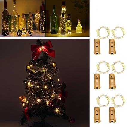 Wine Bottle Christmas Tree Diy.Amazon Com Sooncoming Wine Bottle Lights Led Copper Wire