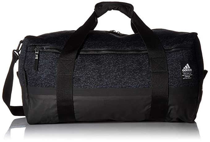 7459e6f8372 adidas Primeknit Duffel Bag, Pixel Prime Knit Night Grey/Black, One Size