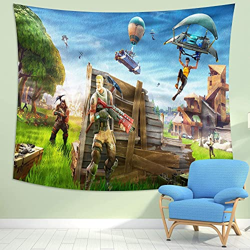 MEWE Fort_nite Tapestry Game Tapestry Wall Hanging for Boys Bedroom Birthday Party 59x90in