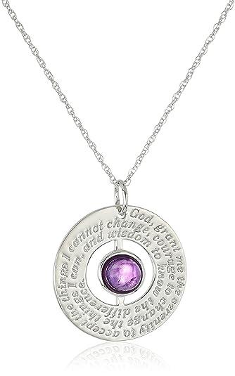 Amazon sterling silver serenity pendant featuring a choice of sterling silver serenity pendant featuring a choice of amethyst garnet or lapis gemstone aloadofball Choice Image