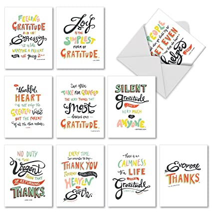 thank you appreciation greeting cards 10 pack assorted blank words of appreciation thankful