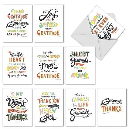 Amazon Com 10 Gratitude Thank You Cards With Envelopes 4 X 5
