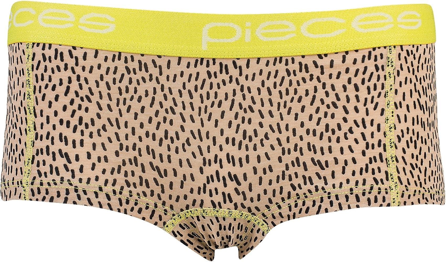 Pieces - Logo Lady Boxers mujer Nude Taille X-Small 92% algodón y 8% lycra.: Amazon.es: Ropa y accesorios