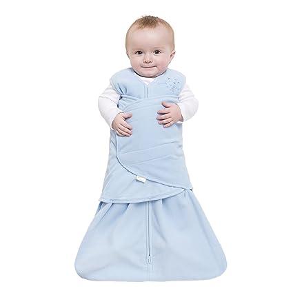 HALO SleepSack Micro-Fleece Swaddle, Baby Blue, Small