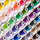 Simthreads 63 Couleurs Polyester broder pour Brother Machine, 500 mètres / bobine