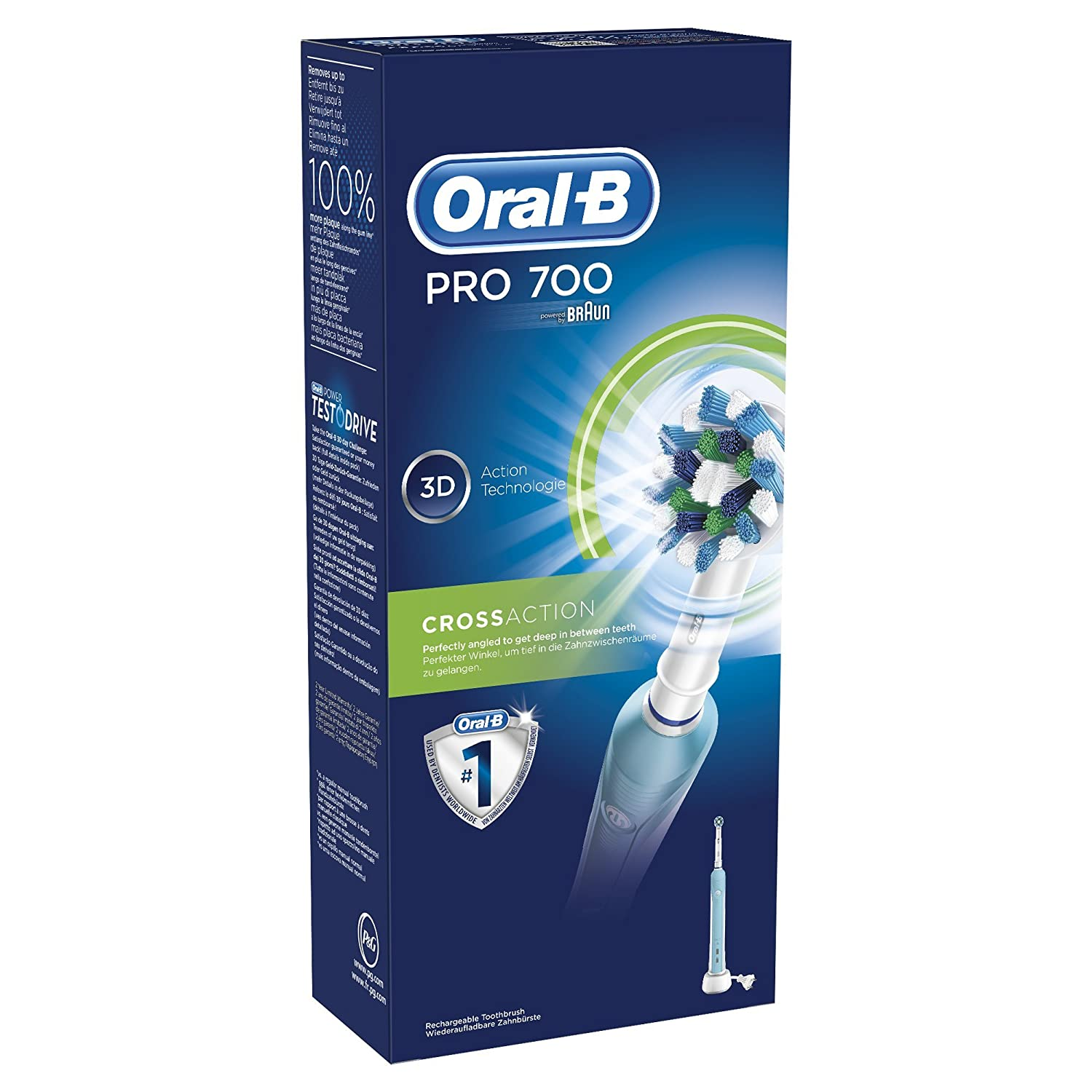 Oral-B PRO 700 Cross Action  Amazon.it  Salute e cura della persona ad241b8b72717