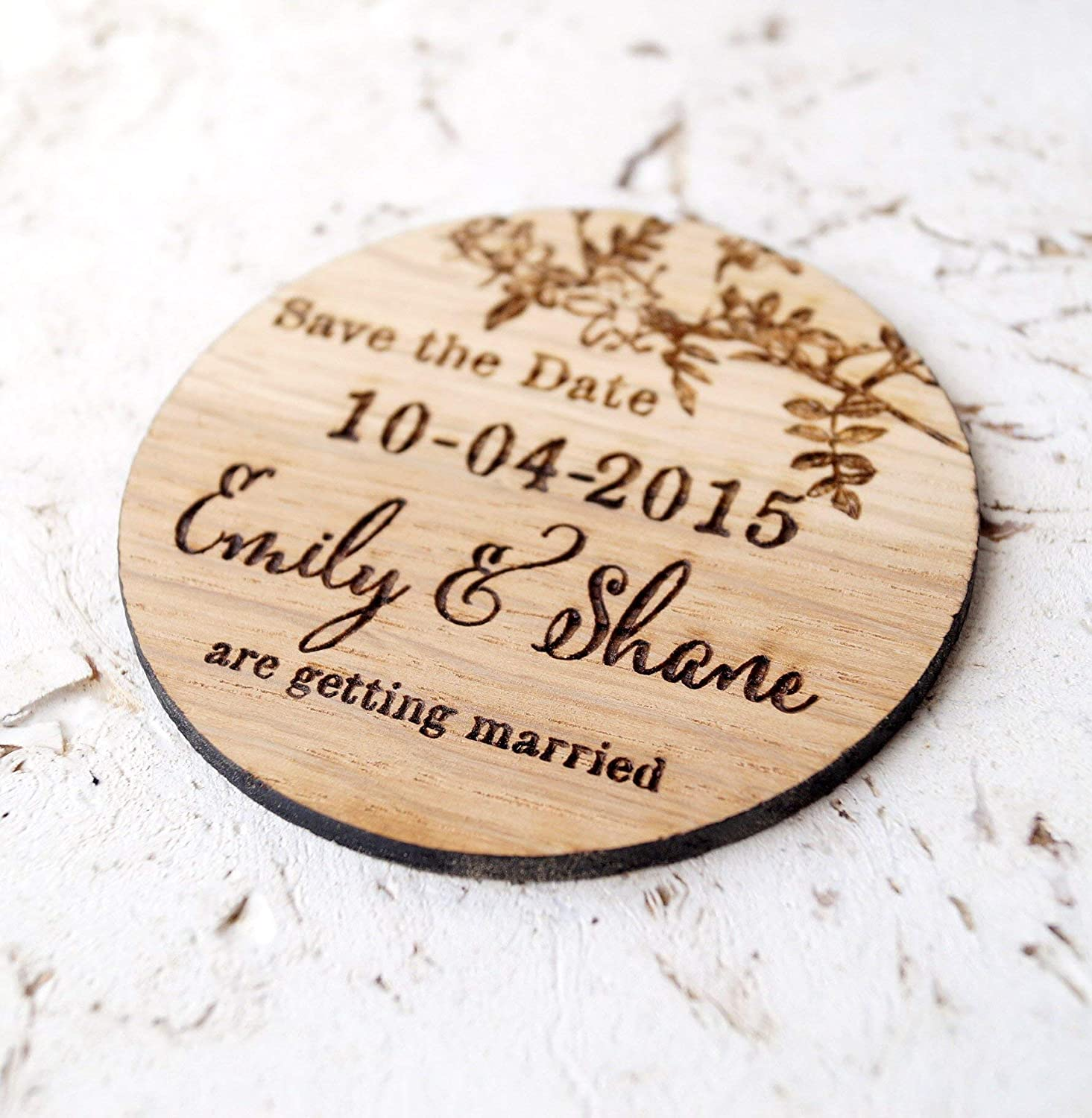 wooden save the date magnets set of 25 or 30 magnets Wedding save the dates